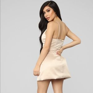 Fashion Nova Dresses - Nude cute dress